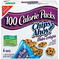 BFVNFG00937 - NabiscoChips Ahoy Thin Crisp 100 Calorie Packs