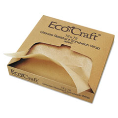 BGC300897 - Bagcraft Papercon EcoCraft Grease-Resistant Paper Wrap & Liner