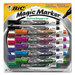 BICGELIPP121AST - BIC® Magic Marker® Brand Low Odor AND Bold Writing Dry Erase Marker