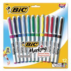 BICGPMUP12ASST - BIC® Mark-It® Ultra-Fine Tip Permanent Marker