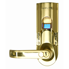 ITOBM001LEA - iTouchlessBio-Matic™ Fingerprint Door Lock Gold - Left Handle