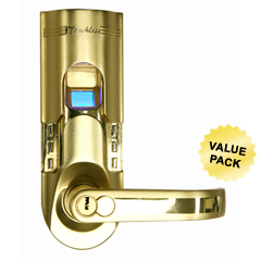 ITOBM001RCS - iTouchlessBio-Matic™ Fingerprint Door Lock Gold - Right Handle