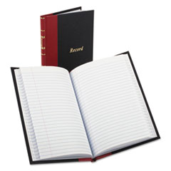 BOR96304 - Boorum  Pease® Record and Account Book with Black Cover and Red Spine