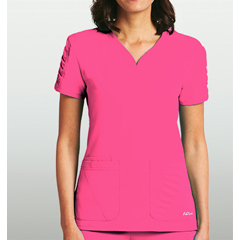 BRC8103-61-M - BarcoKD110™ Lexi Shirred Short Sleeve Scrub Top