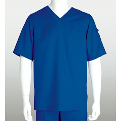 BRC0103X-08-3XL - Grey's AnatomyMens 3-Pocket Scrub Top