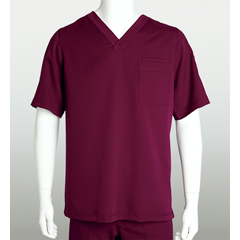 BRC0103X-65-5XL - Grey's AnatomyMens 3-Pocket Scrub Top
