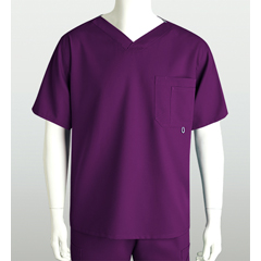 BRC0107-65-S - Grey's AnatomyMens 3-Pocket High Open V-Neck Scrub Top