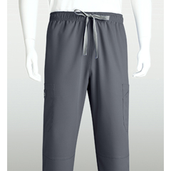 BRC0212T-912-XS - Grey's AnatomyMens 6-Pocket GA Logo Elastic-Back Scrub Bottoms