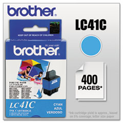 BRTLC41C - Brother LC41C Ink, 400 Page-Yield, Cyan