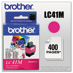 BRTLC41M - Brother LC41M Ink, 400 Page-Yield, Magenta