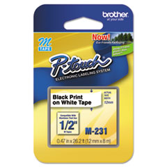BRTM231 - Brother® P-Touch® M Series Standard Adhesive Labeling Tape