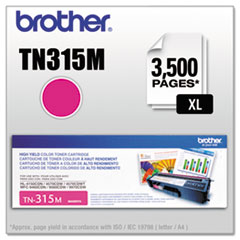 BRTTN315M - Brother TN315M (TN-315M) High-Yield Toner, 3,500 Page-Yield, Magenta
