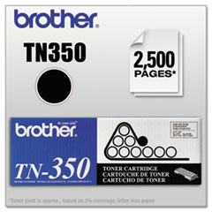 BRTTN350 - Brother TN350 Toner, 2500 Page-Yield, Black
