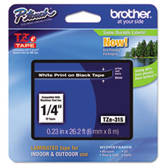 BRTTZE315 - Brother® P-Touch® TZ/TZe Series Standard Adhesive Laminated Labeling Tape