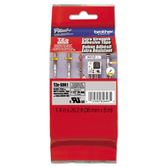BRTTZES961 - Brother® P-Touch® TZe Series Extra-Strength Adhesive Laminated Labeling Tape