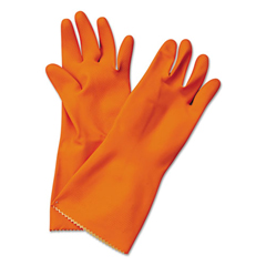 BWK244M - Boardwalk® Flock-Lined Latex Cleaning Gloves