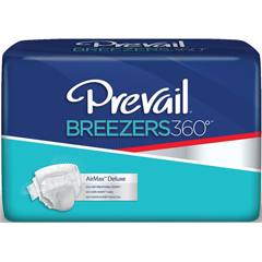 MON22123100 - First QualityPrevail Breezers 360° Adult Brief Size 1 26-48in White