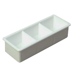 CFS455202CS - CarlisleThree Compartment Sugar Caddy