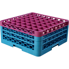 CFSRG49-3C414CS - CarlisleOpticlean 49-Compartment with 3 Extenders - Lavender-Carlisle Blue