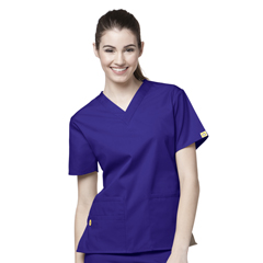 CID6016A-GRP-MD - WonderWinkBravo - 5-Pocket V-Neck Top