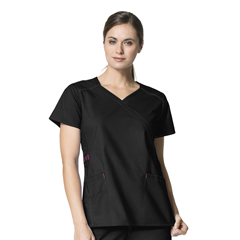 CID6308A-BLK-LG - WonderWinkCharity Fashion Y-Neck Top