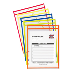 CLI43920 - C-Line ProductsStitched Shop Ticket Holders, Neon Assorted 5 Color, 9 x 12