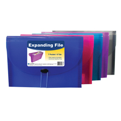 CLI58300BNDL4EA - C-Line Products7-Pocket Letter Size Expanding File