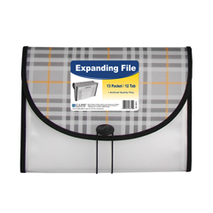 CLI58312BNDL3EA - C-Line Products13-Pocket Letter Size Expanding File, Plaid