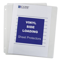 CLI61313 - C-Line ProductsSide Loading Vinyl Sheet Protectors, Clear, 11 x 8 1/2