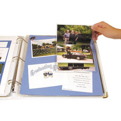 CLI66027BNDL3PK - C-Line ProductsMemory Book Scrapbook Flip Pocket, Clear