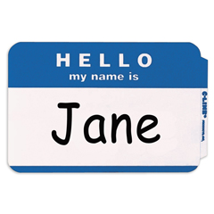 CLI92235BNDL10BX - C-Line ProductsPressure Sensitive Badges, HELLO my name is, Blue, 3 1/2 x 2 1/4