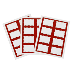 CLI92364 - C-Line ProductsLaser Printer Name Badges, Red Border, 8/Sheet, 3 3/8 x 2 1/3