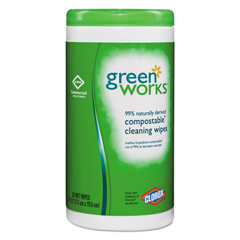 CLO30380 - Green Works® Compostable Wipes