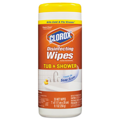 CLO31086EA - Clorox® Tub and Shower Disinfecting Wipes