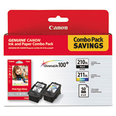 CNM2973B004 - Canon 2973B004 Inks  Paper Pack, PGI-210XL, CL211XL, 2 Inks  50 Sheets 4 x 6 Paper