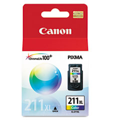 CNM2975B001 - Canon 2975B001 (CL-211XL) High-Yield Ink, 349 Page-Yield, Tri-Color