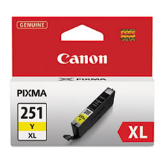 CNM6451B001 - Canon 6451B001 (CLI-251XL), High-Yield Ink, 11 mL, Yellow