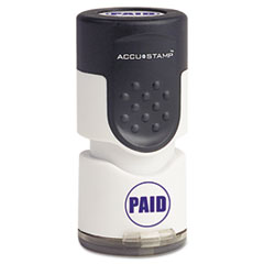 COS035659 - Accustamp Pre-Inked Round Stamp with Microban