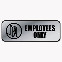 COS098206 - COSCO Brushed Metal Office Sign