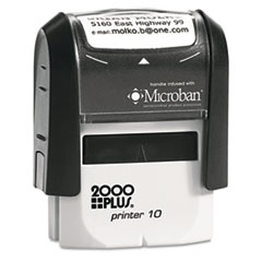 COS1SI10P - 2000 PLUS® Self-Inking Custom Message Stamp with Microban