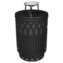 WITCOV40P-AT-BK - Witt IndustriesCovington Collection Receptacle - Ash Top