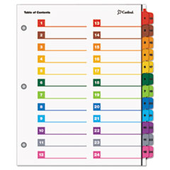 CRD60960 - Cardinal® OneStep® Printable Table of Contents and Dividers - Double Column