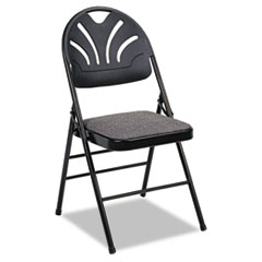 CSC36875KNB4 - Bridgeport™ Fanfare™ Fabric Padded Seat Deluxe Molded Back Folding Chair