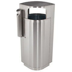 CZP78222999 - Commercial Zone ProductsLeafview™ 20 Gallon Stainless Steel Waste Container w/Cigarette Receptacle