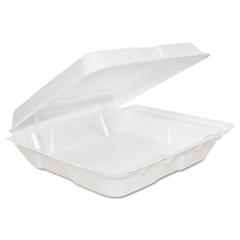 DCC80HT1R - Dart® Foam Hinged Lid Containers