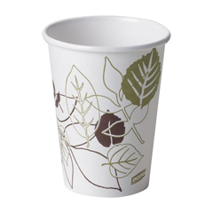 DIX2342PATH - Pathways. 12 oz. Paper Hot Cups