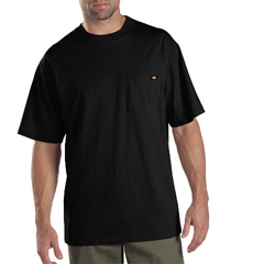DKI1144624-BK-2X - DickiesMens Short Sleeve Tee Shirts, Two Pack