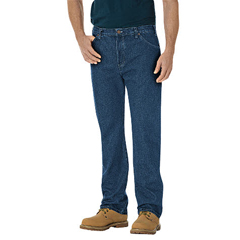 DKI14293-SNB-44-30 - DickiesMens Regular-Fit Straight Fit 6-Pocket Jeans