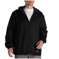DKI33237-BK-2X - DickiesMens Fleece-Lined Hooded Nylon Jackets
