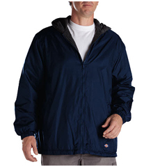 DKI33237-DN-XL - DickiesMens Fleece-Lined Hooded Nylon Jackets